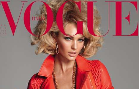 Retro Glam Covers - The Candice Swanepoel Vogue Italia Cover is Super Sassy