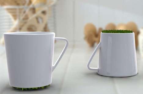 Grassy Coffee Cups