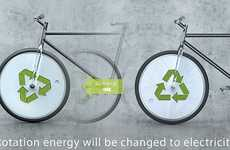 Recycling Bikes - The Re:Energy Bicycle Recharges Your Gadgets with Every Revolution
