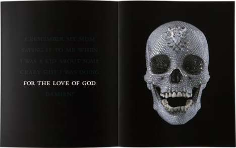 For the Love of God by Damien Hirst Features His Signiture Death Motif