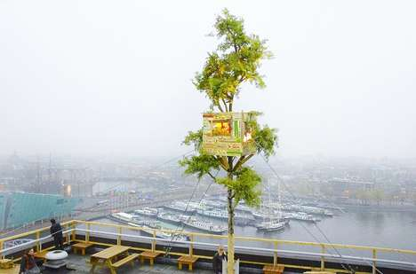 Towering Crate Treehouses