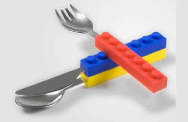 Connectable LEGO Cutlery