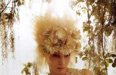 Fair Floral Headpieces - The Melissa Tammerijn Vogue Italia Editorial is Bathed in Sunshine