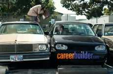 Comedic Chimpanzee Commercials - This Careerbuilder 2011 Super Bowl Ad Doesn't Monkey Around