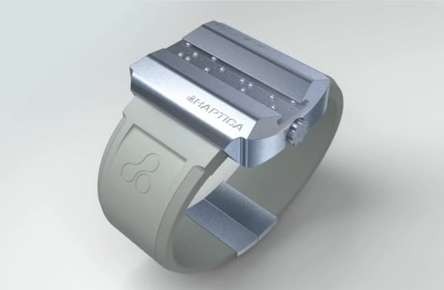 Tactile Timekeepers - The Haptica Braille Watch Indicates the Hour to Your Fingertips