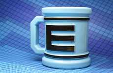 Mega Man Coffee Cups - The E-Mug Original Megamug Fuels You Up for a Big Day
