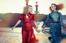 Voluminous Hair Vixens - The Double-Take Ilse De Boer Marie Claire Italia Spread