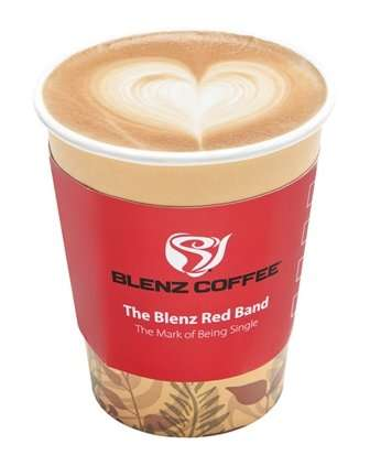Drink-Based Dating - The Blenz Red Campaign Links Love and Coffee