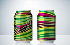 Kaleidoscopic Pop Cans - The Neumeister Glow Cans are Psychedelic Alcohol Holders