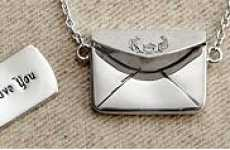 Romantic Envelope Lockets - The Love Letter Necklace Hangs Your Feelings Near The Heart