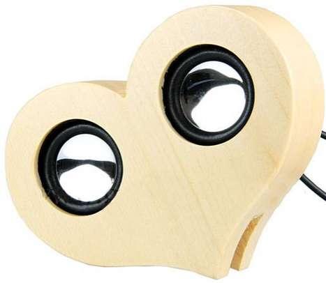 Cutesy Heart-Shaped Speakers
