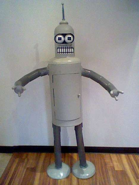This Life-sized Bender Sculpture is for Futurama Fans