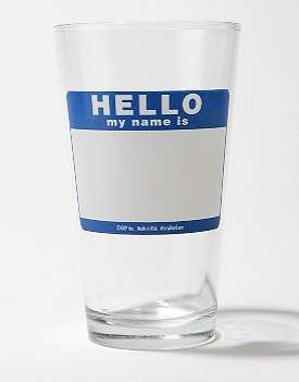 The Friendly 'Hello My Name Is… Pint Glass'