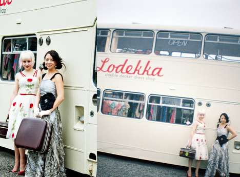 Eco Deals on Wheels (UPDATE)  - The Lodekka Bus Boutique is a Fashion Store Inside a Double Decker