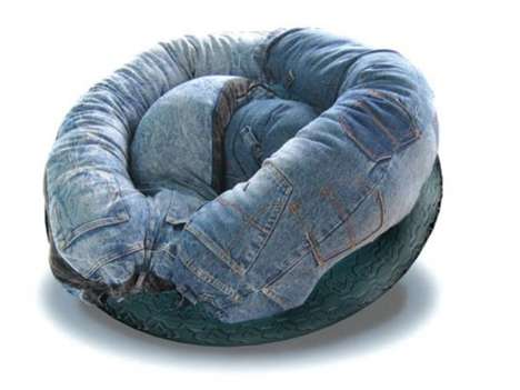 Denim-Draped Sofas