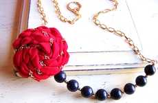 Chained Rose Necklaces - Studio Elenus Creates Gorgeous Intertwined Jewelry