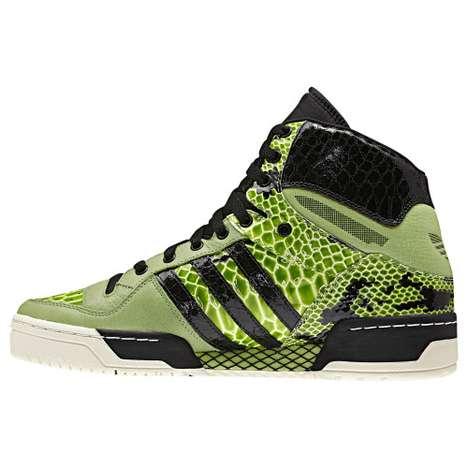 Lime Snakeskin Sneakers
