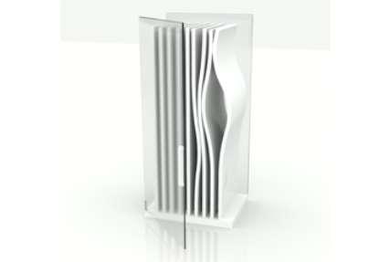 Sinuous Vertical-Shelf Fridges