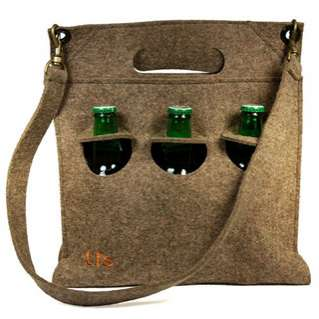 Eco Beer Carriers - The Felt House Brings Us a Cozy and Comfortable Way to Carry Around Our Booze