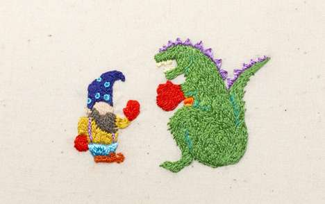 Battling Embroidered Characters