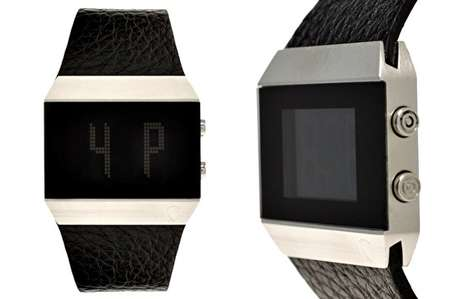 Boxy Leather Timepieces