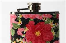 Girly Hip Flasks - The Blush Blossom Flask Has Potent Flower Power