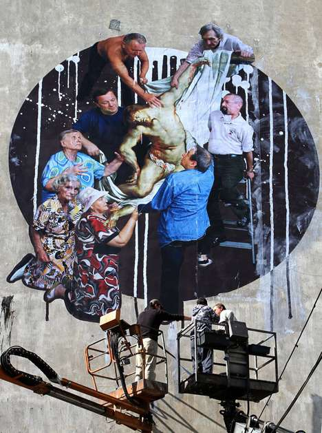 Modern Frescos - Yola Celebrates Seniors in His Renaissance-Inspired Street Art