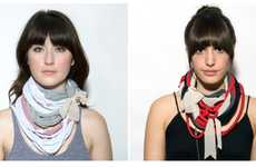 Shredded T-Shirt Necklaces - Lauren Constantine V&Y Mart Accessories are Chic and Sustainable