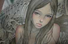 Strangely Suggestive Paintings - Charlotte by Audrey Kawasaki is Sultry and Surreal