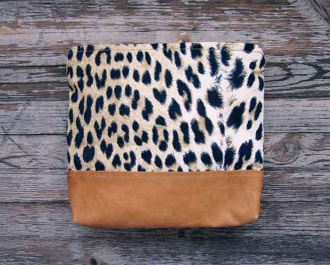 Upcycled Two-Toned Purses - The Leather Scout & Catalogue Scavenger Purses are Adorable