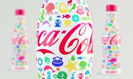 Cartoon Bottle Branding