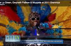 Feathered Grammy Costumes - Cee Lo Green and Gwyneth Paltrow Rock the Grammys in True Songbird Style