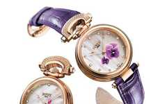 Elegant Floral Timepieces - The Mille Fleurs Watch by Bovet Lets You Pick Your Favourite Flower