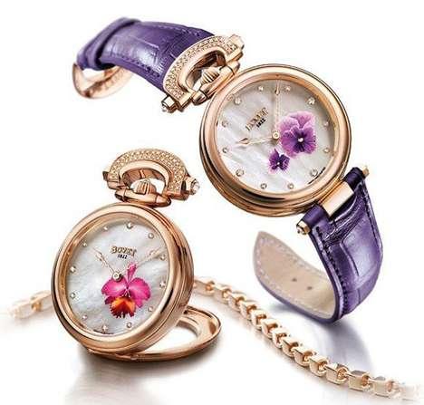 Elegant Floral Timepieces