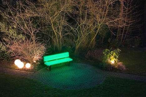 Neon Park Benches