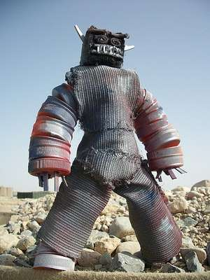 Recycled Action Figures
