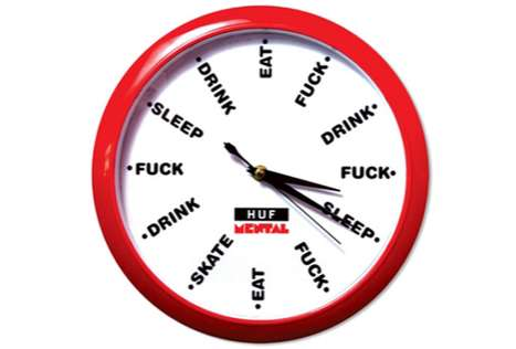 The HUF & Skate Mental Dirtbag Lifestyle Clock Won't Tell You the Time