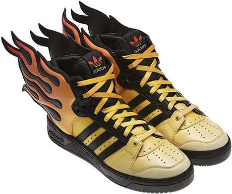 Fantastically Fiery Footwear