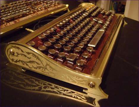 Intricate Steampunk PCs - The Clacker by Richard Nagy is a Computer That Belongs in the 1900s