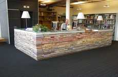Recycled Book Desks