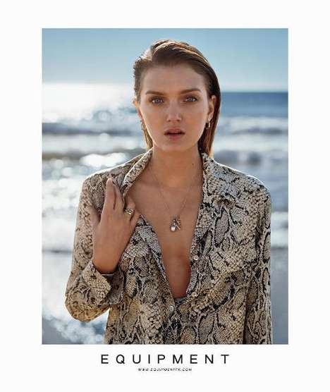 The Refined Lily Donaldson Equipment Spring 2011 Ads
