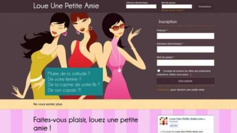 Girlfriend-Renting Websites - 'Loue Une Petite Amie' Makes Finding a Date Easier Than Ever