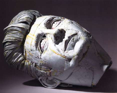Cardboard Facial Sculptures