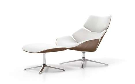 The Sleek Curvy Smooth Shrimp Armchair by Jehs + Lub