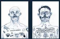 Prison Tattootorials - Dave Decat Illustrates Wonderfully Inked Caricatures