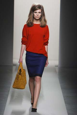 Retro Runway Coifs - The Bottega Veneta Fall Collection is Bold and Full of Solids