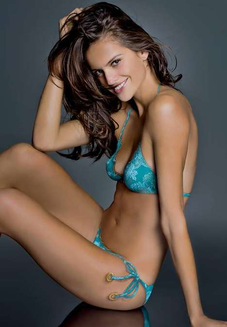 Skin Art Bikinis - Izabel Goulart Looks Smoldering in Body Paint for Sports Illustrated