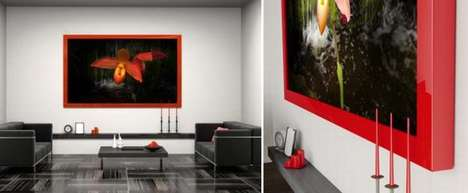 The Media Decor Allure Moving Art Frame Doubles as Wall Art