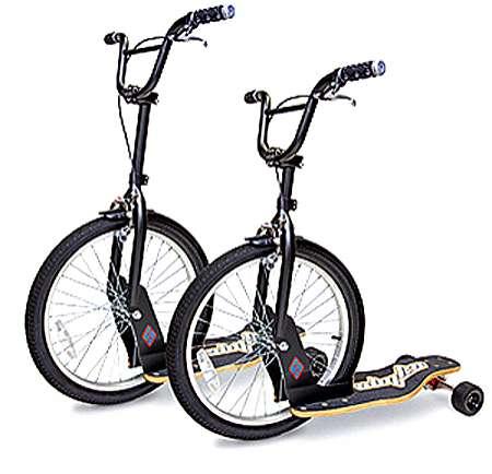 Bicycle-Skateboard Hybrids