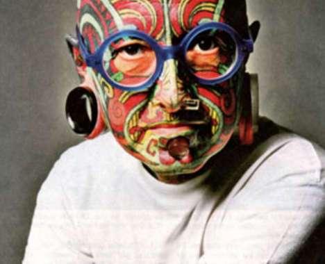 12 Freaky Facial Tattoos